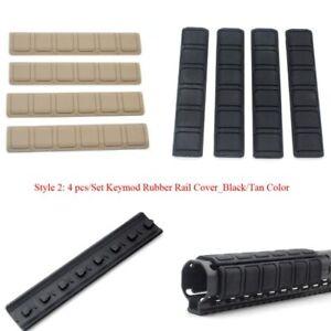 Keymod Picatinny/Weaver Ladder Rubble Rail Cover Handguard Protector Black/Tan