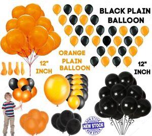 Plain Black & Orange 12 Inch Halloween Party Balloons Decorations