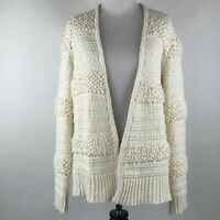 Madewell Women Cream Knit Textured  Bronson Sweater Cardigan sz S