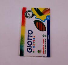 GIOTTO DI NATURA da 12 colori pastelli matite colorate