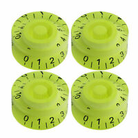 4PCS LP SG Electric Guitar Knobs Tone & Volume Control Knobs Neon Green Color