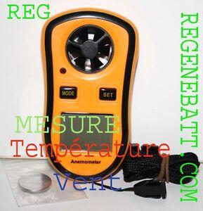 Anémomètre Thermomètre Mesure vitesse du vent Station Météo #A0