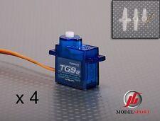 4 x turnigy Tg9e 9g/1.5Kg 0.10 sec micro servo hélicoptère avion même HXT900
