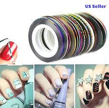 5 Multicolor Rolls Striping Tape Line DIY Nail Art Tips Decoration Sticker