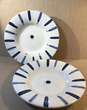 Pottery Barn Tiburon Pasta Bowls Set Of 2 Blue And White