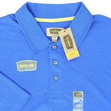 "The Foundry Men 3XLT 60"" Quick Dri Polo Shirt Racing Blue Pima Cotton Polyester"