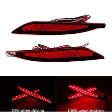 2x Car LED Lens Rear Bumper Reflector Brake Light For Hyundai Sonata 2011-2014