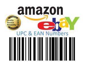 UPC EAN Codes for Sale on Ebay Amazon Etsy Worldwide Certificated 200 pcs
