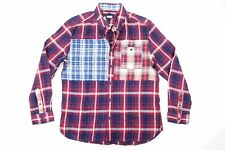 TOMMY HILFIGER PLAID CHECK RED BLUE XL CUSTOM FIT SOFT BUTTON FRONT SHIRT NWT