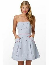 Lilly Pulitzer Sweet Little Lady Bug Seersucker Embroidered Blossom Dress NWT 10