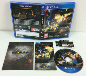 Ion Fury | PS4 Playstation 4 | Game Boxed Complete CIB Artbook Stickers PAL