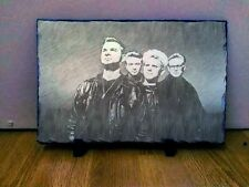 Depeche Mode Sketch Art Portrait on Slate 8x6in rare collectable memorabilia