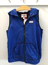 NWT Hunter For Target SIZE L 10 12 Hoodie Windbreaker Vest ROYAL BLUE Girls Boys