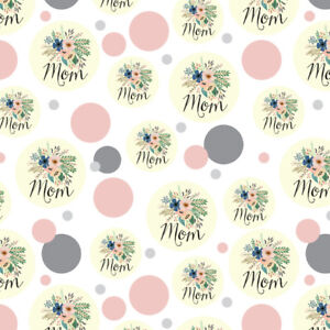 Mom with Flowers Mother's Day Premium Gift Wrap Wrapping Paper Roll