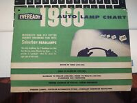 Vintage Eveready Auto Lamp Chart 1960 - Great Condition / Unmarked