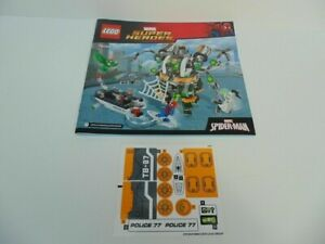 LEGO 76059 Doc Ock's Tentacle Trap Instruction Manual and Decals ONLY 2016