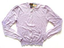 New Ralph Lauren Rugby Women's Cotton & Cashmere Purple Cardigan Sweater SLIM XS