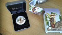 1 Oz Silver Coloured Kookaburra 2014 Coin.the Perth mint coin show special anda