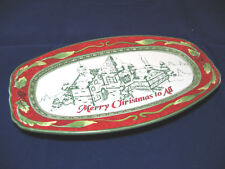 "Fitz & Floyd Sentiment Tray Merry Christmas to All Plate 10.25x6"" Nib"