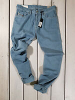 RRP $159 NEW DIESEL MEN'S JEANS TEPPHAR 0850Y SLIM CARROT STRETCH LIGHT BLUE