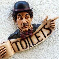 TOILETS Charlie Chaplin mit Klopapierrolle Figurales Relief PERFEKT Toilette RAR