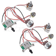 Guitar Wiring Harness Prewired Kit 3 Way Toggle Switch 1 Volume 1 Tone  2pcs