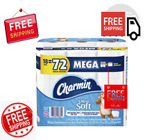 New! Charmin Ultra Soft Toilet Paper, 18 Mega Rolls, 5112 Sheets