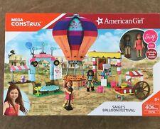 American Girl Mega Construx Saige's Balloon Festival w/ Gabi & Activity Book