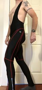 Men's Stormberg Long Bibs. Black Large with Chamois - Pre Owned