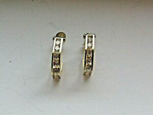 Paar Ohrringe aus Gold - Creolen - Goldohrringe - 585/14k - er Gold - #383