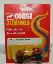 Corgi Juniors 58 G.P. Beach Buggy Metallic Red Yellow Seats MIB