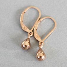 14k Rose Pink Gold Filled TINY Droplet Briolette Drops Earrings U&C Sundance