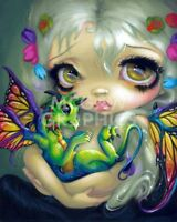 Darling Dragonling IV by Jasmine Becket-Griffith Art Print Gothic Poster Fantasy