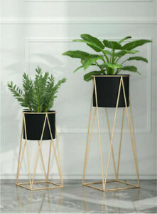 Wickerfield Metal Planter Stand With Plant Pot Flower Pot for Indoor Or Balcony