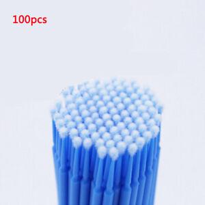 100Pcs  Car Touch Up Paint Mini Brush Large Tips Applicators Blue 2mm