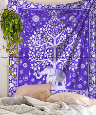 Indian elephant tree of mandala cotton wall hanging hippie tapestry bedspread