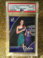 Alanna Smith 2019 Phoenix Mercury Press Proof Purple 69/99 WNBA PSA 10 Rookie