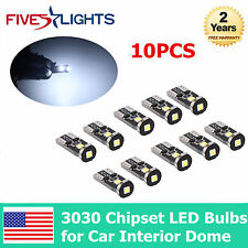 10X New Extremely Bright 3030 Chipset LED Bulbs for Car Interior Dome Map Door