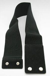 Women Wide Black Color Corset Belt Hip Elastic High Waist Stretch Waistband S M