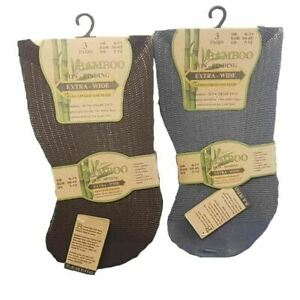 Mens Bamboo Extra Wide Non Elastic Diabetic Super Soft Socks Size UK 6-11 /39-45