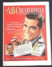 Life Magazine Ad CHESTERFIELD Cigarettes Reverse BLATZ Beer 1948 Ad Dana Andrews