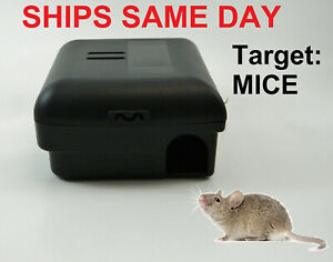 12 x Mouse Mice Trap Enclosed Child Safe Snap Trap Box Bait Station,Pest,Rodents
