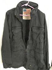 Men's Lucky Brand Military Field Jacket Dark Blue/Black M Medium