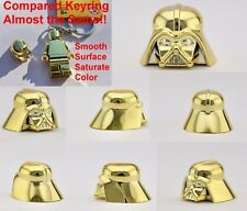 LEGO DARTH VADER HELMET CHROME GOLD AUTHENTIC CUSTOM HIGHEST QUALITY MONOCHROME