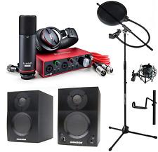 Focusrite Scarlett 2i2 Studio Gen 3 Recording Bundle w/Pro Tools 1st Samson BT3