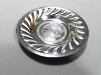 Aluminum Dinnerware Dish Plate Round Kitchen silverware Flatware Vintage food
