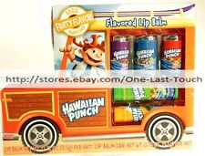LOTTA LUV BEAUTY 5pc Lip Balm HAWAIIAN PUNCH Flavors YUM YUM Truck Shaped