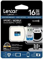 Tarjeta Memoria Lexar Pro MicroSD 16GB 95 MBs 633x CLASE 10 Micro SD 16 GB 32 64