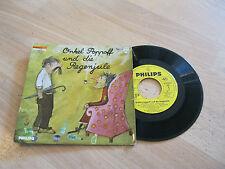 """7"""" Single Onkel Poppoff und die Regenjule Hörspiel  Vinyl Philips 760030"""