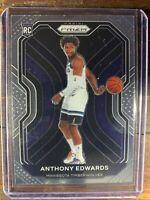 Anthony Edwards Rookie Basketball Card #258 Panini Prizm Timberwolves RC NBA